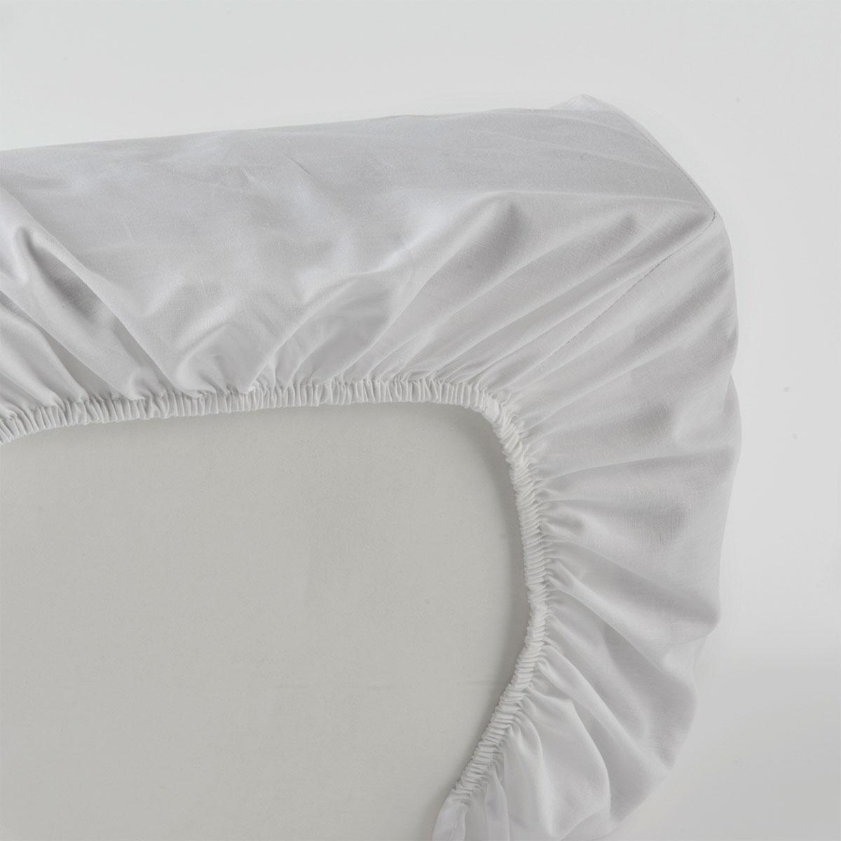 Destockage   Drap housse blanc   Standard Textile