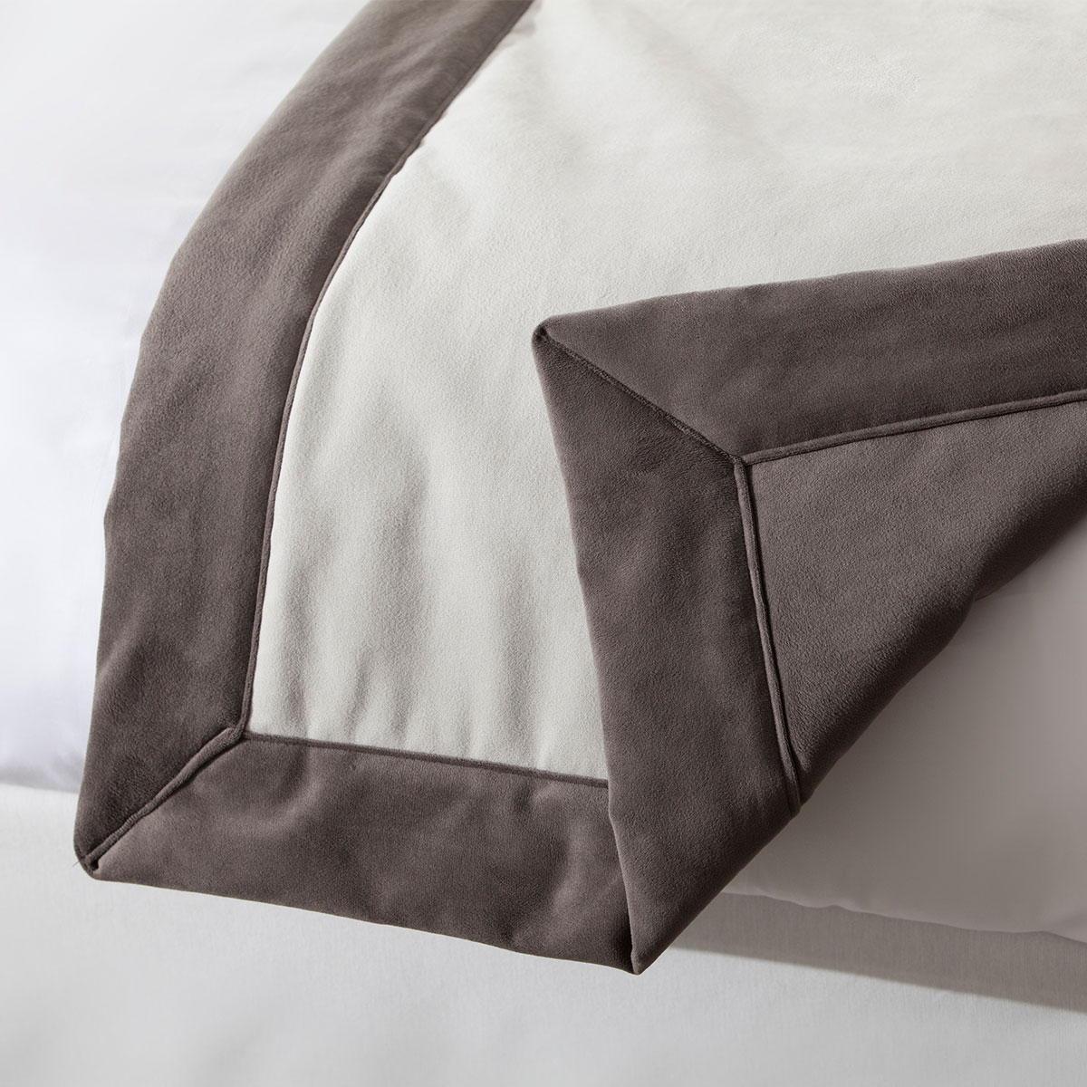 chemin de lit op ra r versible en velours standard textile. Black Bedroom Furniture Sets. Home Design Ideas