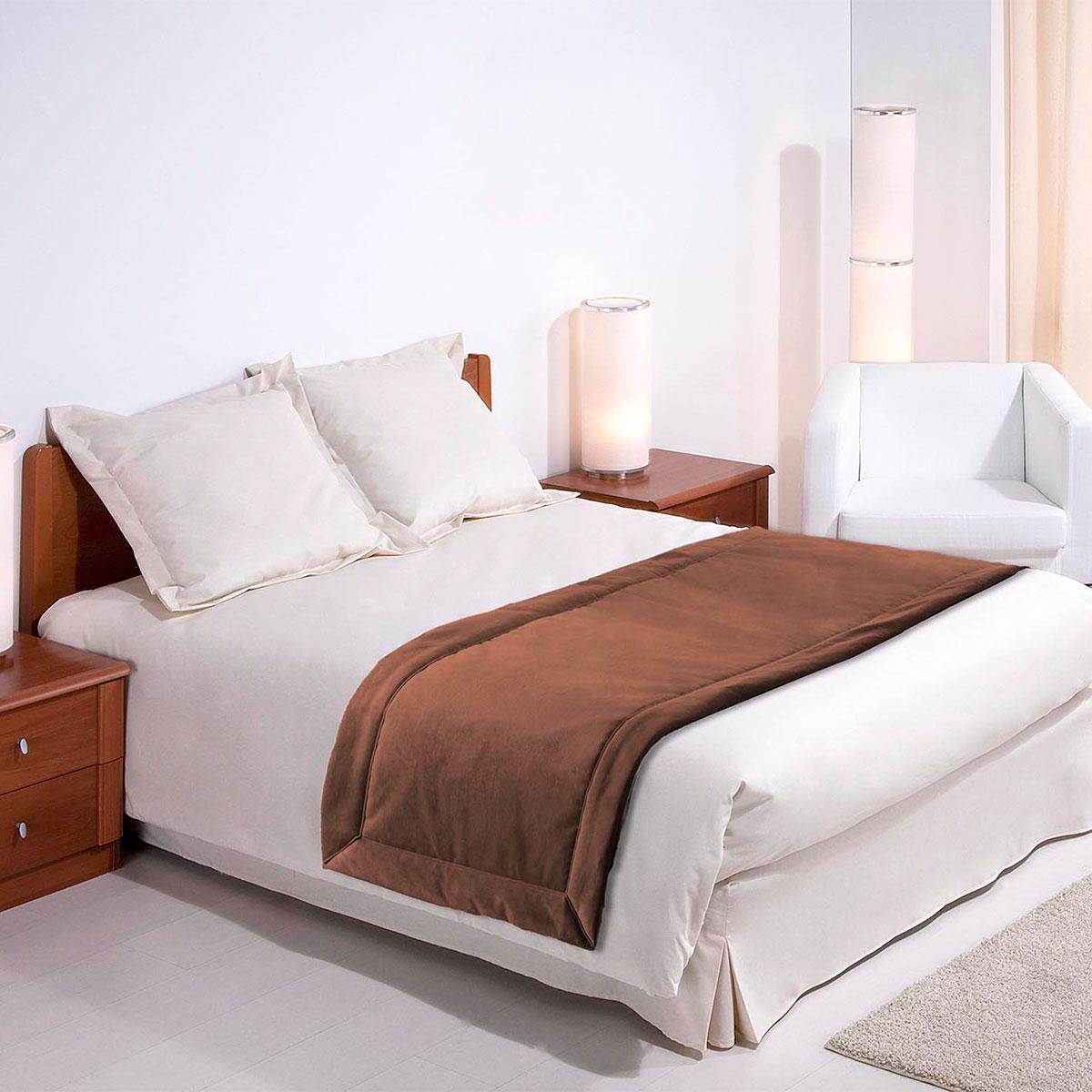 chemin de lit tildou r versible standard textile