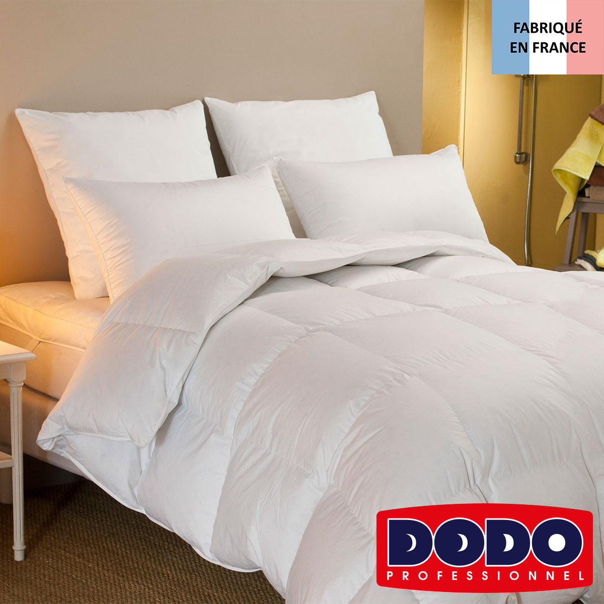couette naturelle piuma en percale et duvet dodo standard textile. Black Bedroom Furniture Sets. Home Design Ideas