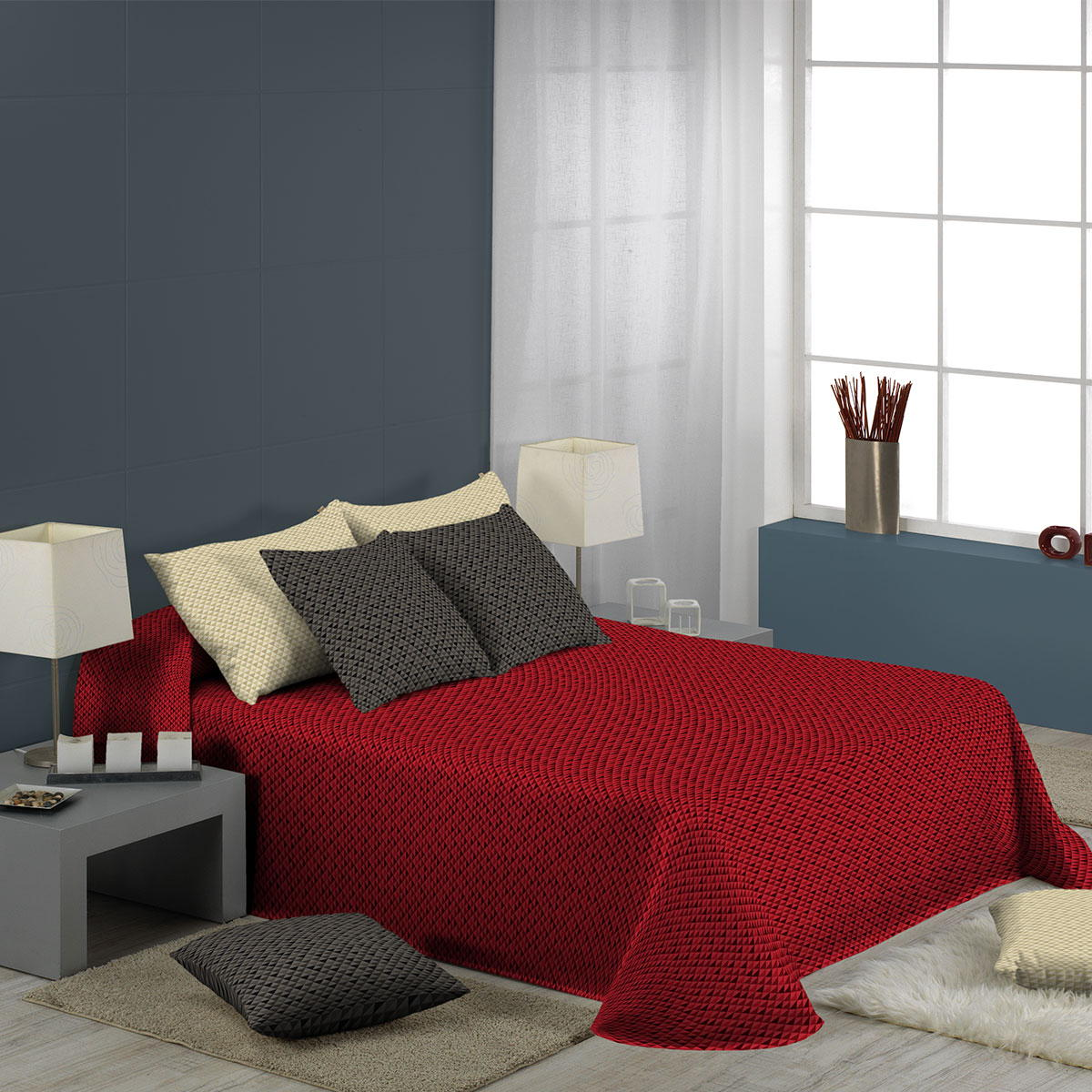 jet de lit nil effet boutis standard textile. Black Bedroom Furniture Sets. Home Design Ideas