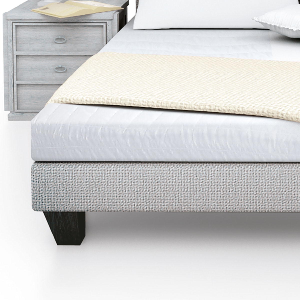 prot ge matelas duvetine en molleton 100 coton standard textile. Black Bedroom Furniture Sets. Home Design Ideas