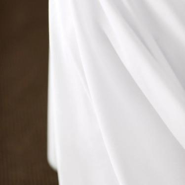 taie d 39 oreiller volant piqu centium satin uni standard textile. Black Bedroom Furniture Sets. Home Design Ideas